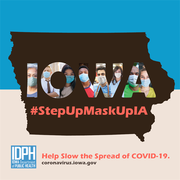 State Launches #StepUpMaskUpIA to Slow the Spread of COVID-19