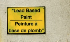 Lead Based Paint Sign