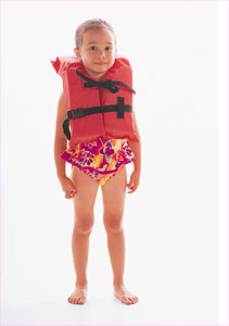 Girl in lifejacket