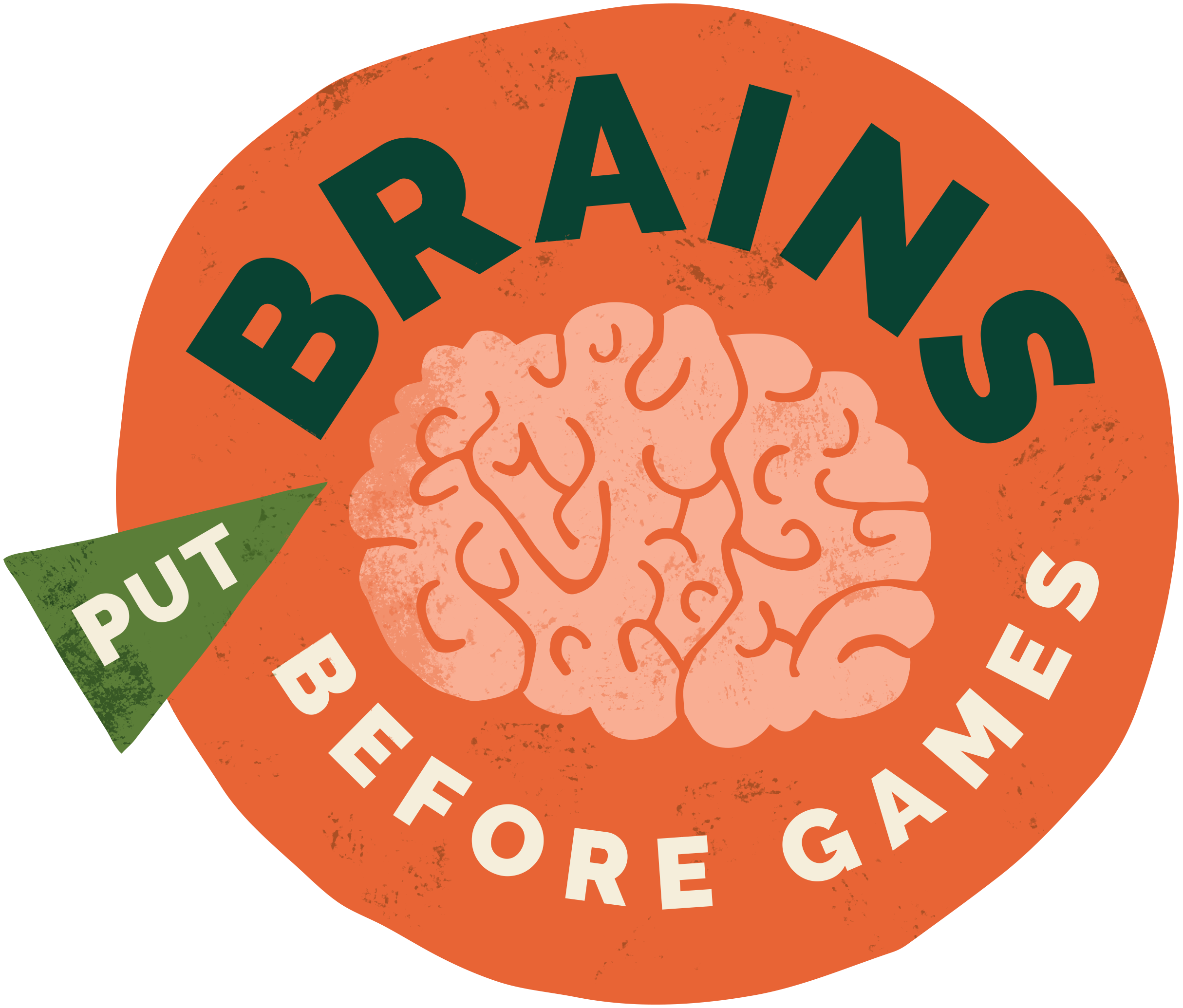 Put Brains Before Games logo
