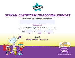 Healthy Habits All-Star Certificate